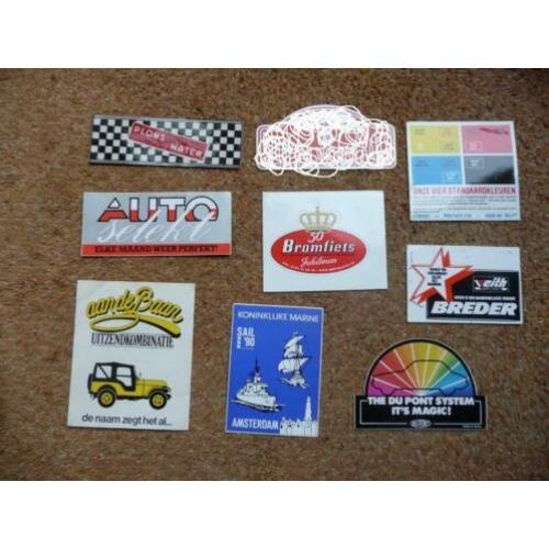 8 fraaie stickers. Plons is water, Marine, auto, bromfiets